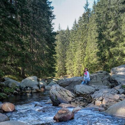 potok Vydra u Antýglu - Vydra je šumavská řeka, jejímž soutokem s Křemelnou vzniká řeka Ot